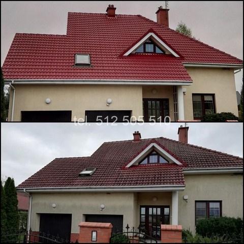 Mycie elewacji budynku i dachu
